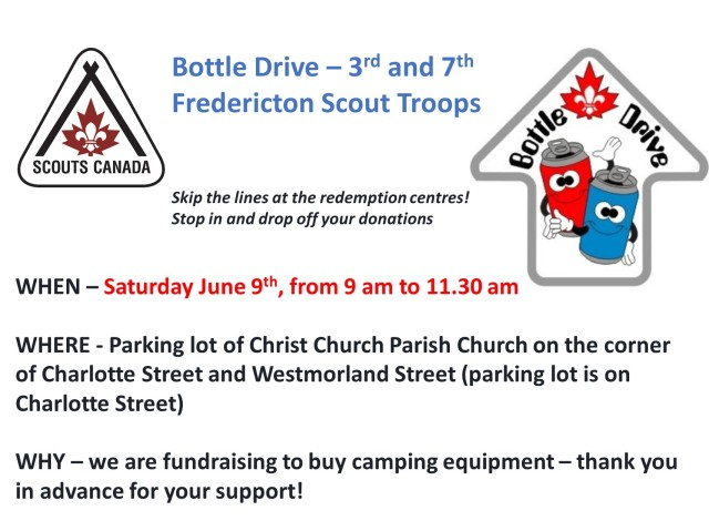 Bottle drive June 2018